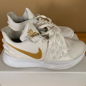 kyrie low id white and gold